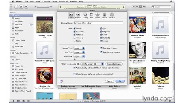 Setting general preferences: iTunes 10 Essential Training