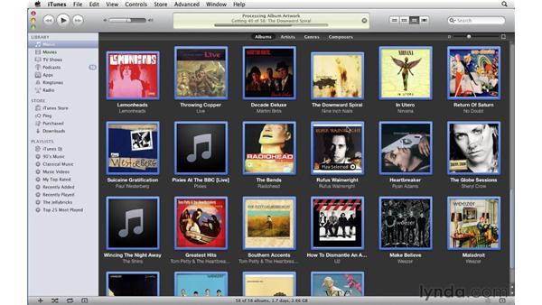 Finding and adding album artwork: iTunes 10 Essential Training
