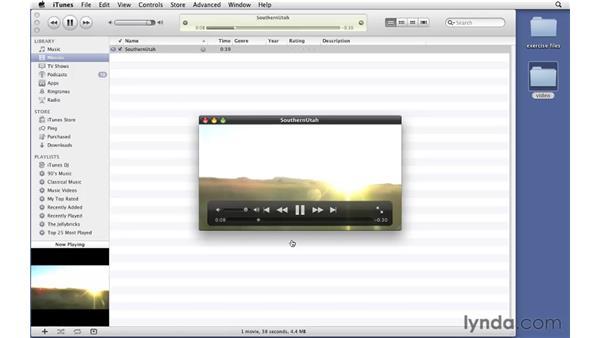 Importing videos: iTunes 10 Essential Training