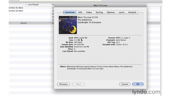 Finding duplicate songs: iTunes 10 Essential Training