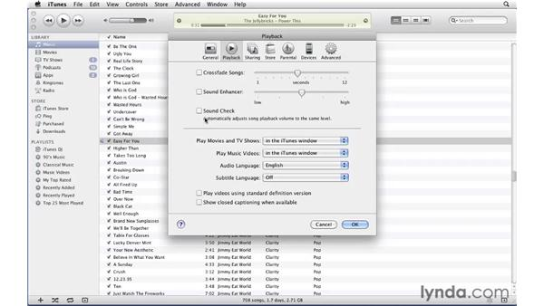Exploring playback options: iTunes 10 Essential Training