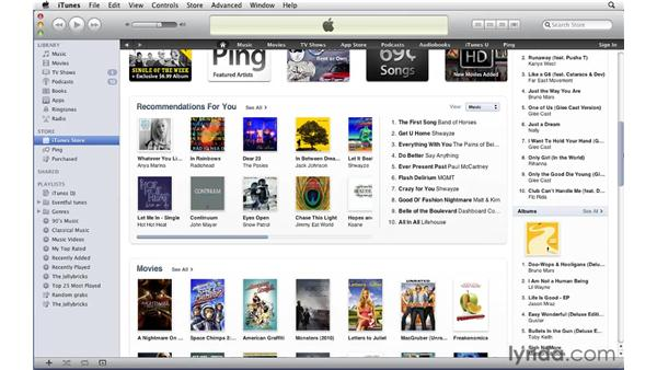 Store overview: iTunes 10 Essential Training