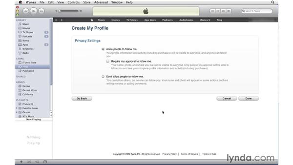 Using the Ping social network: iTunes 10 Essential Training