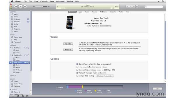 Managing your iPod: iTunes 10 Essential Training