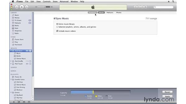 Syncing music and movies: iTunes 10 Essential Training