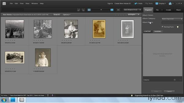 Importing photos into the Organizer: Photoshop Elements 9: Scanning and Restoring Photos