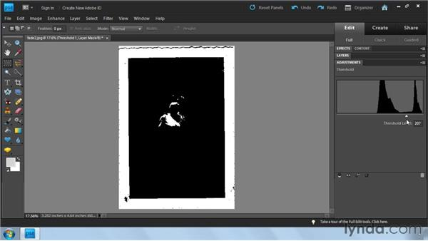 Fixing fades with Threshold: Photoshop Elements 9: Scanning and Restoring Photos