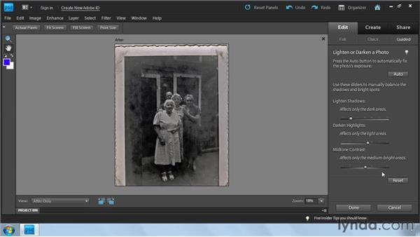 : Photoshop Elements 9: Scanning and Restoring Photos