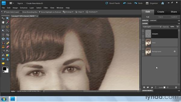 Softening paper texture: Photoshop Elements 9: Scanning and Restoring Photos