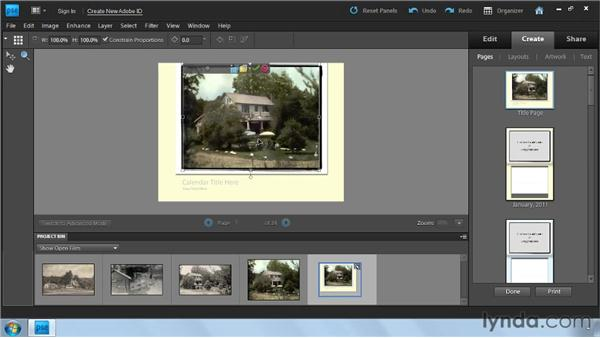 Making a calendar: Photoshop Elements 9: Scanning and Restoring Photos