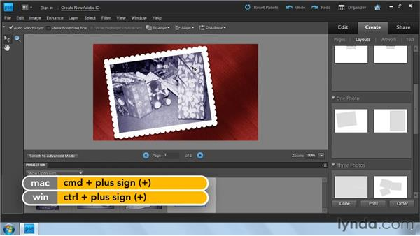 Creating a personalized greeting card: Photoshop Elements 9: Scanning and Restoring Photos