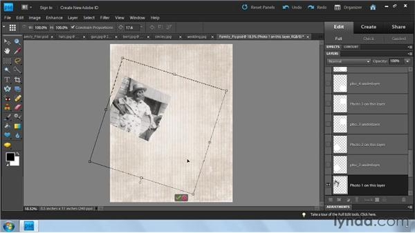 Creating a flyer: Photoshop Elements 9: Scanning and Restoring Photos
