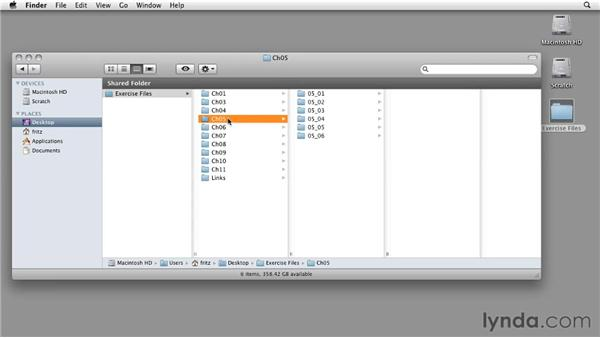 Using the exercise files: InDesign CS5: Interactive Documents and Presentations