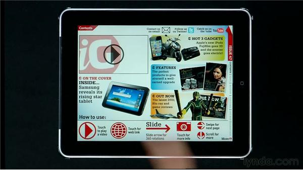Digital magazines: Wired, iGIZMO, The New Yorker: InDesign CS5: Interactive Documents and Presentations