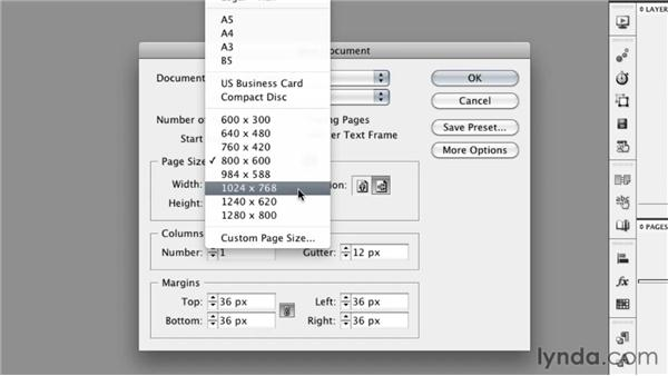 Understanding intent and presets: InDesign CS5: Interactive Documents and Presentations