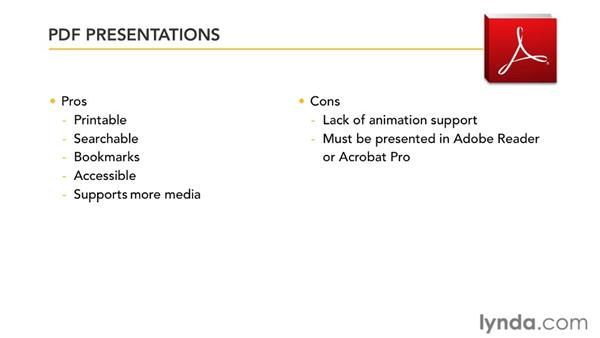 Comparing PDF and SWF presentations: InDesign CS5: Interactive Documents and Presentations