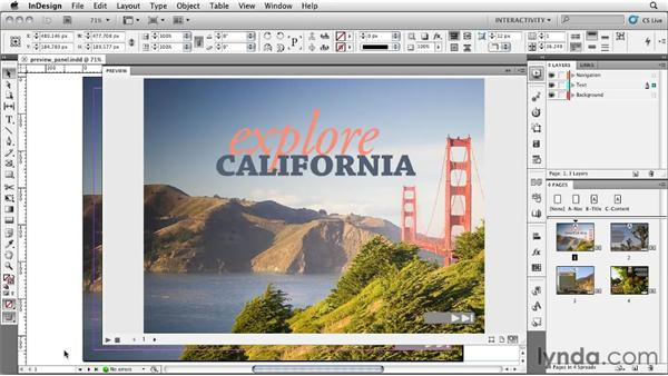 Previewing your layout with the Preview panel: InDesign CS5: Interactive Documents and Presentations