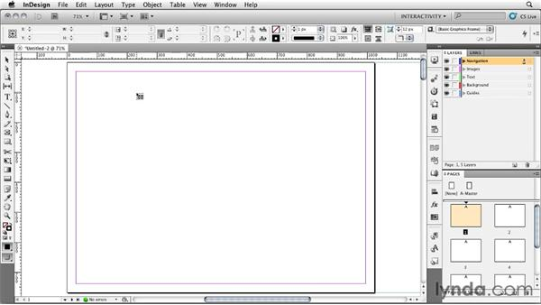 Setting up a presentation with layers: InDesign CS5: Interactive Documents and Presentations