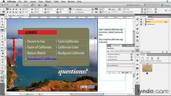Creating hyperlinks: InDesign CS5: Interactive Documents and Presentations