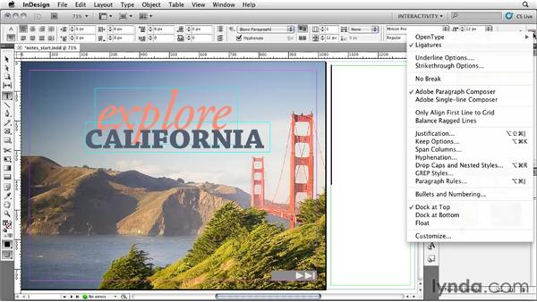 Using the slug for notes: InDesign CS5: Interactive Documents and Presentations