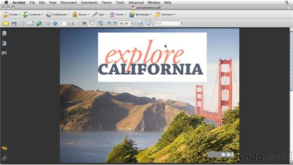 Using animation inside a PDF presentation: InDesign CS5: Interactive Documents and Presentations