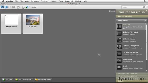 Creating a PDF Portfolio presentation: InDesign CS5: Interactive Documents and Presentations