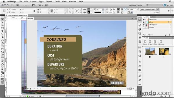 Animating a list: InDesign CS5: Interactive Documents and Presentations