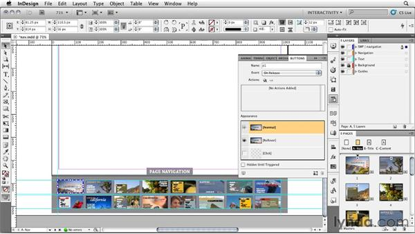 Designing an alternate navigation: InDesign CS5: Interactive Documents and Presentations