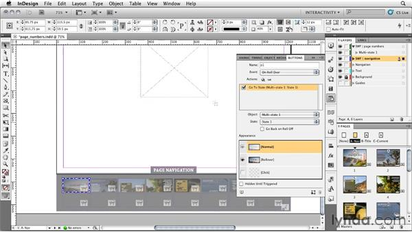 Creating a page number indicator: InDesign CS5: Interactive Documents and Presentations