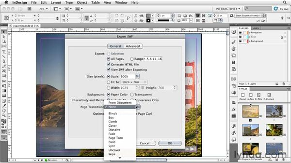 Exporting your presentation to SWF: InDesign CS5: Interactive Documents and Presentations