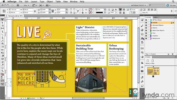 Creating a sound hot spot: InDesign CS5: Interactive Documents and Presentations