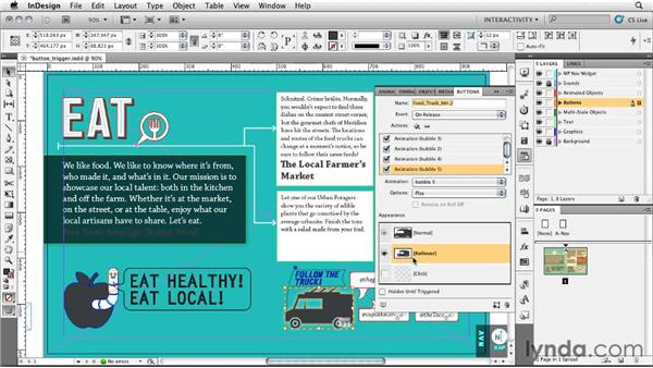 Creating a loaded button: InDesign CS5: Interactive Documents and Presentations
