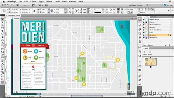 Creating an interactive map: InDesign CS5: Interactive Documents and Presentations