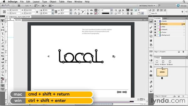 Creating a logo slideshow: InDesign CS5: Interactive Documents and Presentations