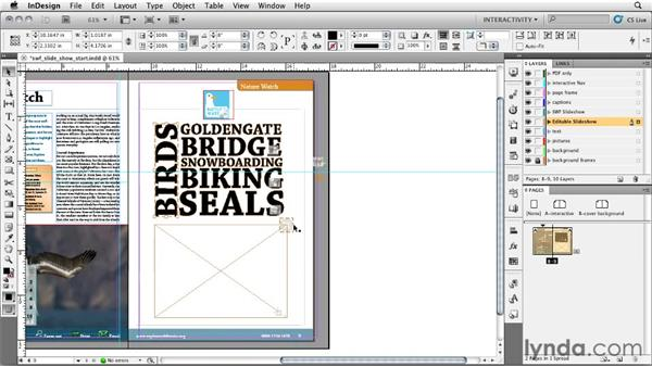 Using a SWF slideshow in a PDF: InDesign CS5: Interactive Documents and Presentations