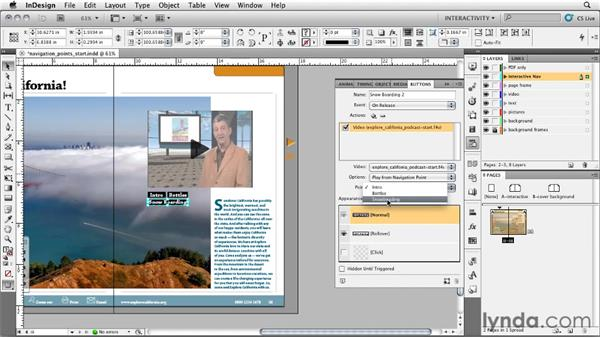 Setting navigation points: InDesign CS5: Interactive Documents and Presentations
