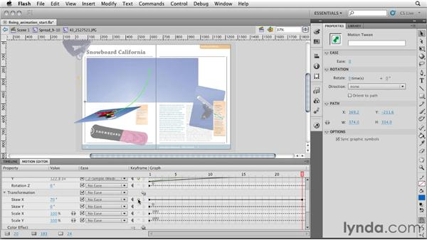 Editing the animations: InDesign CS5: Interactive Documents and Presentations