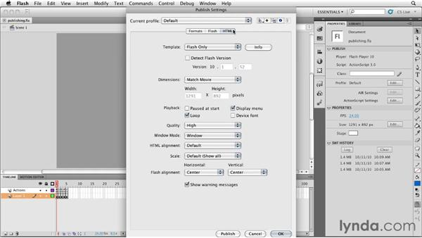Publishing a SWF: InDesign CS5: Interactive Documents and Presentations