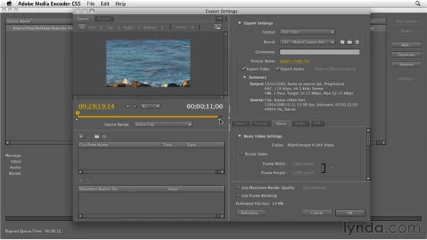 Converting a video into FLV with Adobe Media Encoder: InDesign CS5: Interactive Documents and Presentations