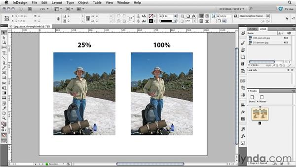 Using the JPG Pass-Through filter: InDesign CS5: Interactive Documents and Presentations