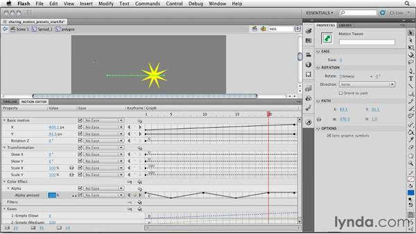 Sharing motion presets: InDesign CS5: Interactive Documents and Presentations