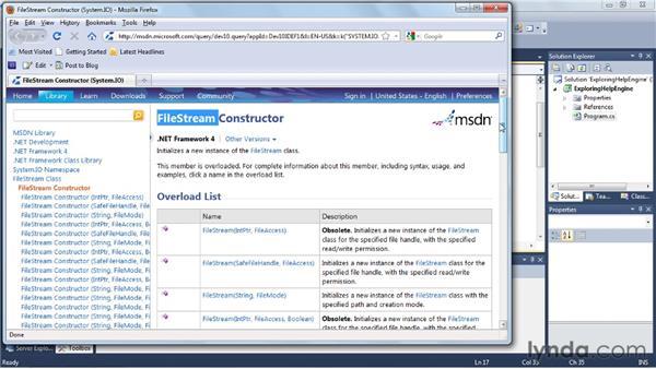 Exploring the new Help engine: Visual Studio 2010 Essential Training