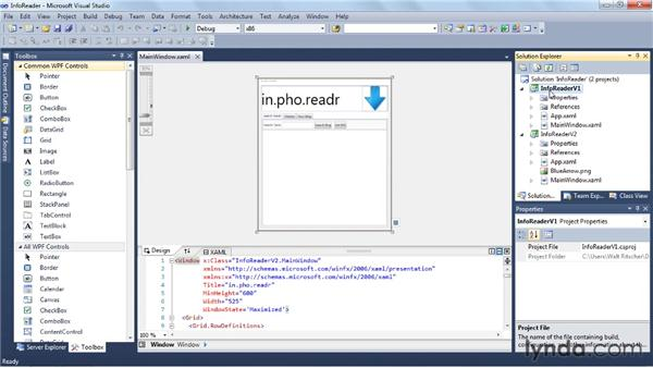 Building the UI with the editors: Visual Studio 2010 Essential Training