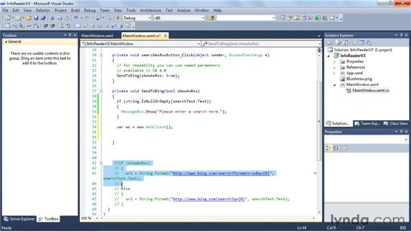 Communicating with the web site: Visual Studio 2010 Essential Training