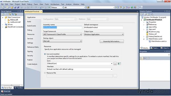 Packaging and deploying the application: Visual Studio 2010 Essential Training