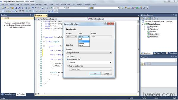 Using IntelliSense effectively: Visual Studio 2010 Essential Training