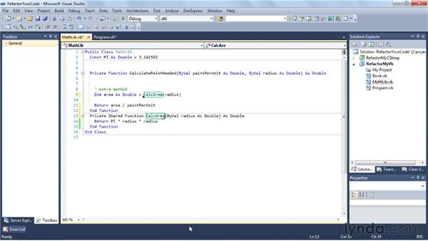 Refactoring VB with CodeRush Xpress: Visual Studio 2010 Essential Training