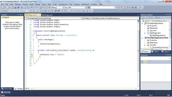 Creating a rich internet application with Silverlight: Visual Studio 2010 Essential Training