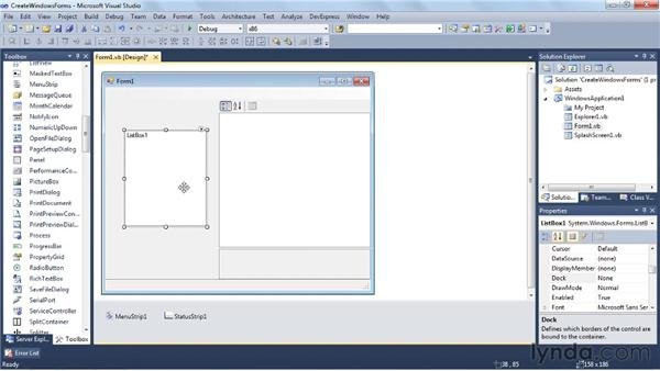 Creating a classic Windows application with Windows Forms: Visual Studio 2010 Essential Training
