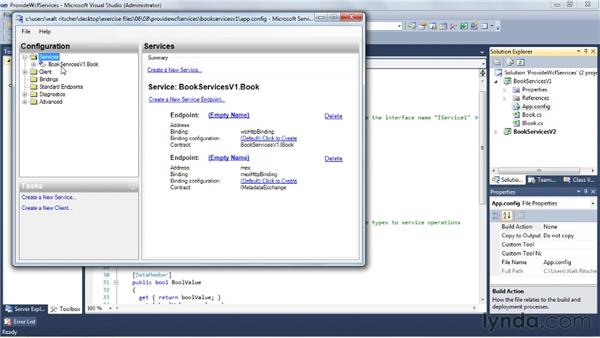 Creating a WCF service: Visual Studio 2010 Essential Training